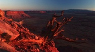 Stock Video Footage of Canyonlands National Park at sunset with the La Sal Mountains