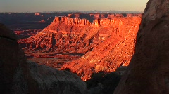 Orange sunset glow at Canyonlands National Park, Utah Stock Footage