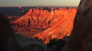Stock Video Footage of Orange sunset glow at Canyonlands National Park, Utah