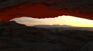 Stock Video Footage of Jib up of Mesa Arch in Canyonlands National Park, Utah