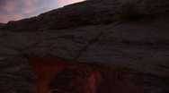 Stock Video Footage of Jib down of Mesa Arch in Canyonlands National Park, Utah