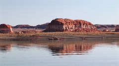Crab right on the shore of Lake Powell Stock Footage