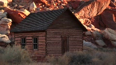 One-room schoolhouse in Capital Reef National Park Stock Footage