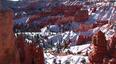 Claron formations in Bryce Canyon National Park Stock Footage
