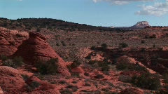 The Vermilion Cliffs Wilderness area in the Utah backcountry Stock Footage