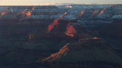 Wide shot of  flat-topped rims surrounding the Grand Canyon Stock Footage