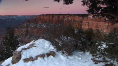 Grand Canyon National Park in winter Stock Footage