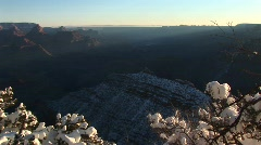 Grand Canyon National Park covered in winter Stock Footage