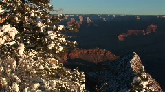 Grand Canyon National Park with winter snow Stock Footage