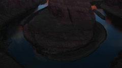 Horseshoe of the Colorado River outside Page, Arizona Stock Footage