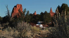 Sandstone spires in the Kodachrome Basin in the Utah backcountry Stock Footage