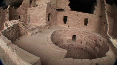 Native American cliff dwellings in Mesa Verde National Park - stock footage