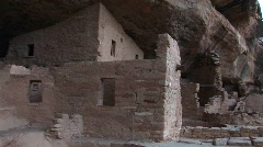 Ruins of Native American cliff dwellings in Mesa Verde National Park Stock Footage