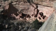 Stock Video Footage of Ruins Native American cliff dwellings in Mesa Verde National Park