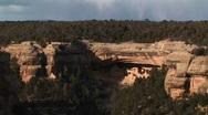 Native American cliff dwellings in Mesa Verde National Park, Colorado Stock Footage