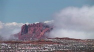 Stock Video Footage of Clouds enveloping cliffs near Lake Powell, Arizona