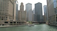 Stock Video Footage of Ferry downtown Chicago