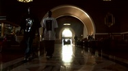 Time-lapse of crowds entering and exiting Union Station Stock Footage