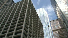 River view downtown Chicago Stock Footage