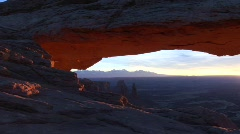 Mesa Arch in Canyonlands National Park, Utah Stock Footage