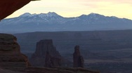 Stock Video Footage of Snow-covered mountains in Canyonlands National Park