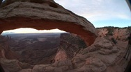 Stock Video Footage of Mesa Arch in Canyonlands National Park, Utah