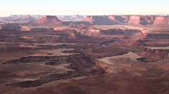 The amazing canyons of the desert Southwest during the golden-hour Stock Footage