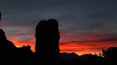 Rock formations in Arches National Park, Utah Stock Footage