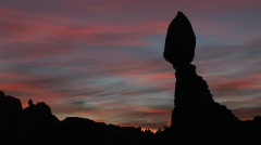 Balanced Rock in Arches National Park, Utah Stock Footage