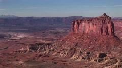 Canyonlands National Park in ancient American Indian kiva - stock footage