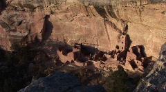 Ancient Anasazi ruin in Mesa Verde National Park, Colorado Stock Footage