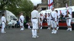 Morris dancing sticks Stock Footage