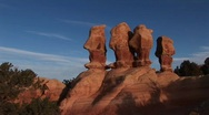 Unusual rock formations in Canyonlands National Park in Utah Stock Footage