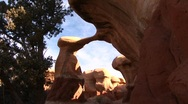 Stock Video Footage of Arched stone formation in Canyonlands National park in Utah