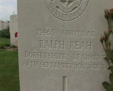 Military cemetery corporal dorsetshire Stock Footage