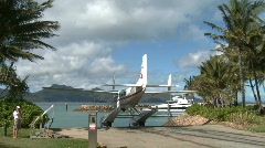 Float Plane at dock (2 of 5) Stock Footage