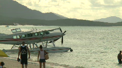 Float Plane on beach (1 of 3) Stock Footage
