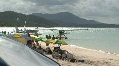 Float Plane on beach (3 of 3) Stock Footage