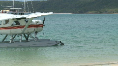 Float Plane on beach (2 of 3) Stock Footage