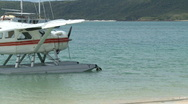 Stock Video Footage of Float Plane on beach (2 of 3)
