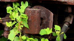 A rusty railcar hitch. Stock Footage