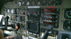 Cockpit of plane (3 of 3) Stock Footage
