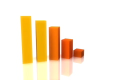 3d recession business chart graph Stock Footage