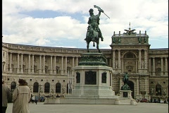 Vienna Building and Statue 4 Stock Footage