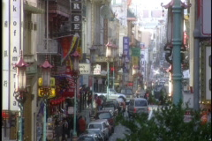 Street in Chinatown Stock Footage
