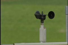 Wind sprinkler detecting device Stock Footage