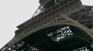 Stock Video Footage of Underneath Eiffel Tower