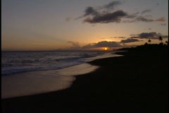 End of sunset 2 Stock Footage