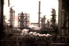 Kuwait oil refinery 5 Stock Footage