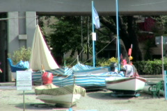 Italian Boats 3 Stock Footage
